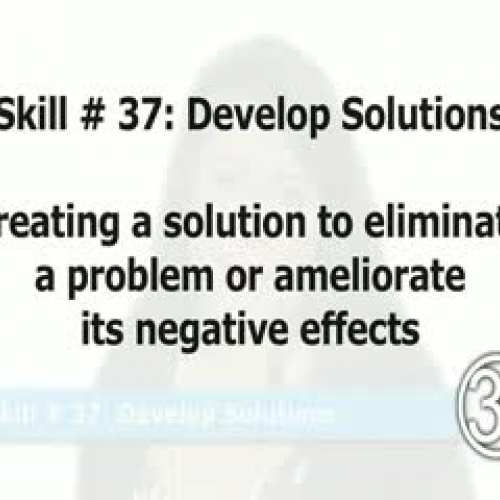 Skill 37: Develop Solutions