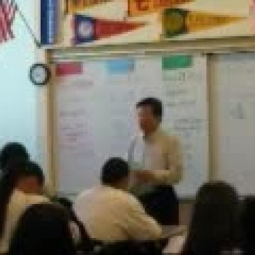 David teaching Geo