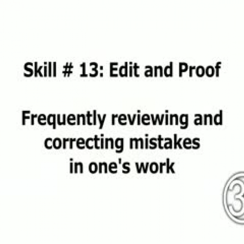 Skill 13: Edit and Proof