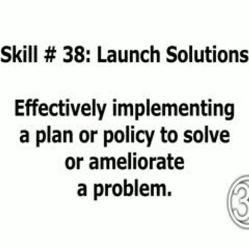 Skill 38: Launch Solutions