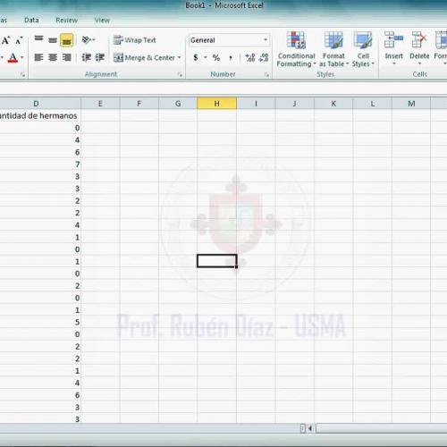 Preparación de base de datos