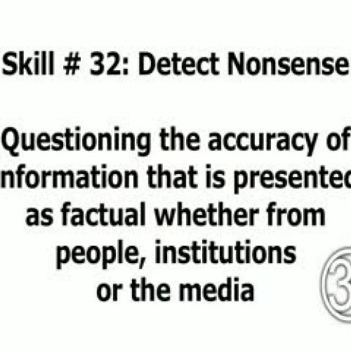 Skill 32: Detect Nonsense