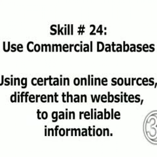 Skill 25: Use Commercial Databases