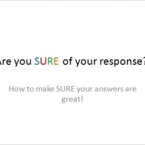 Are you Sure of your Response?
