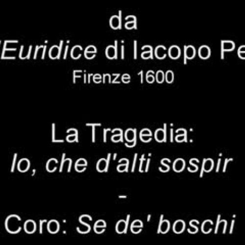 Peri, L'Euridice