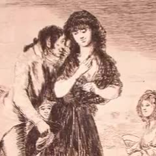 Goya's Caprichos: #7 - Even thus he cannot ma