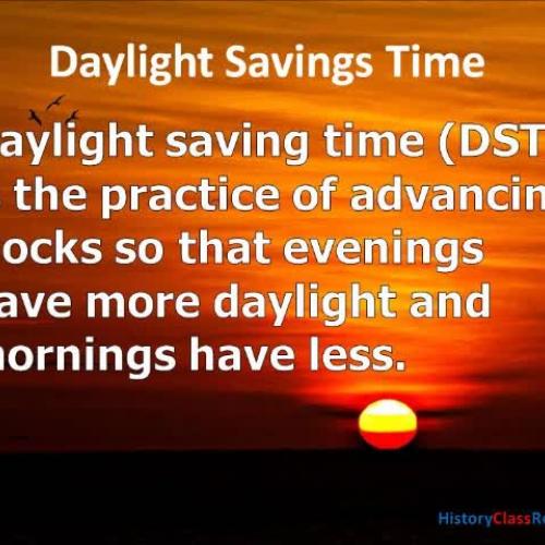 Daylight Savings Time - Sunshine of Your Love