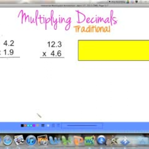 Multiplying Decimals (Traditional)