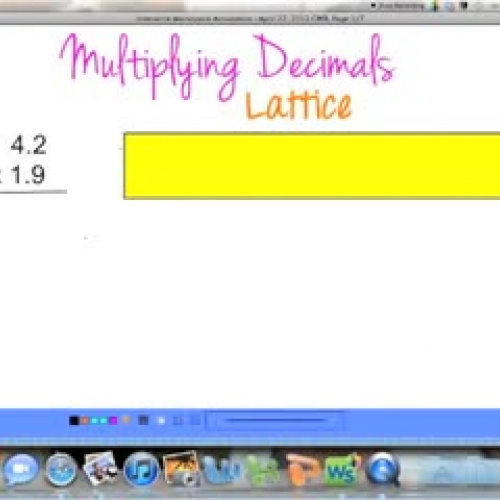 Multiplying Decimals (Lattice)