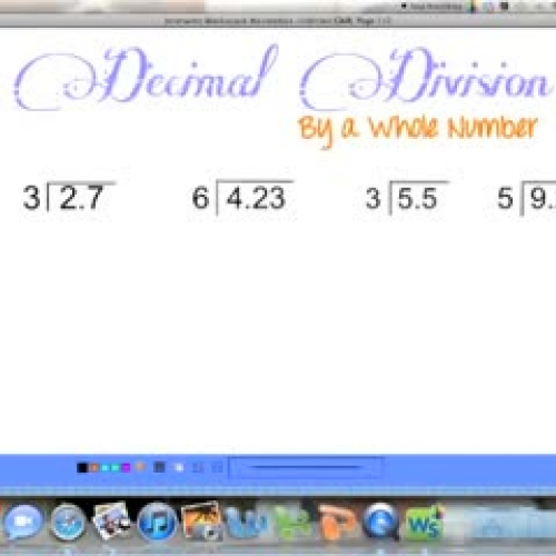 Dividing Decimals (by a whole number)