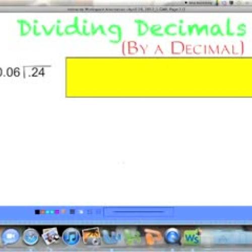 Dividing Decimals (by a Decimal)