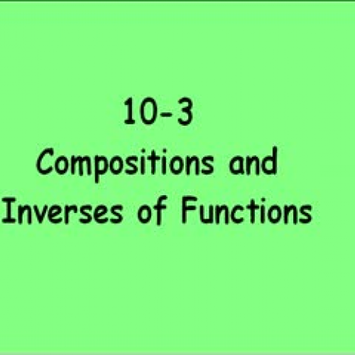 10-3 Inverse Functions