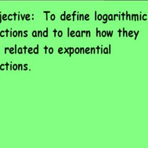 10-4 Definition of Logarithms