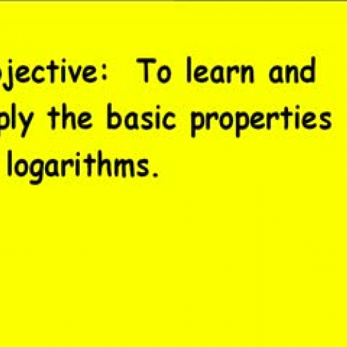 10-5 Laws of Logarithms