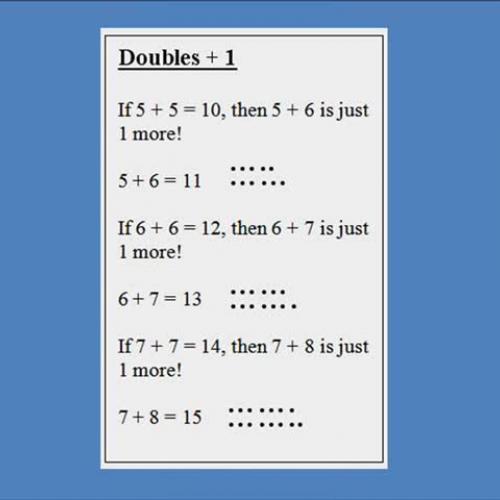Math Fact Thinking