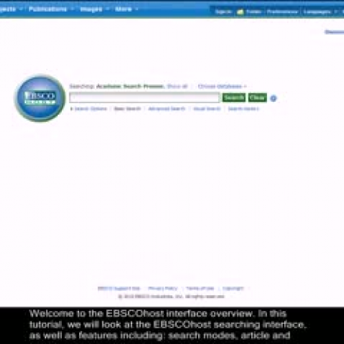 Intro to EBSCOhost