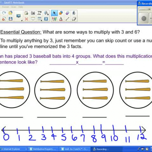 multiply with 3 and 6