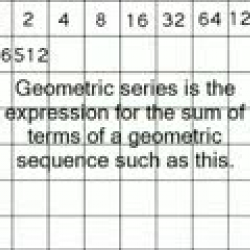 Geometric Series and Exponents Vocabulary Dig