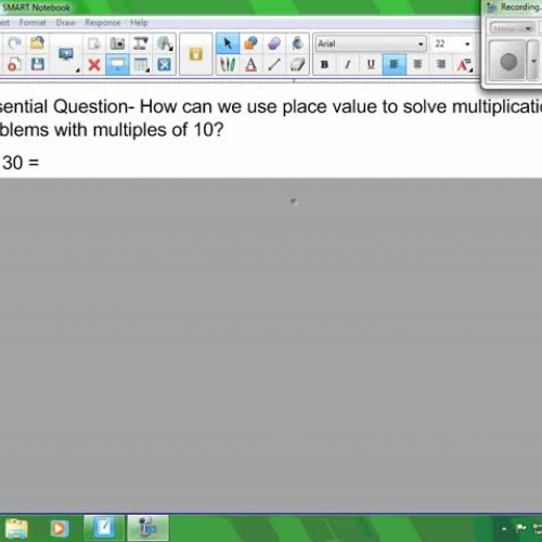 Mult using place value