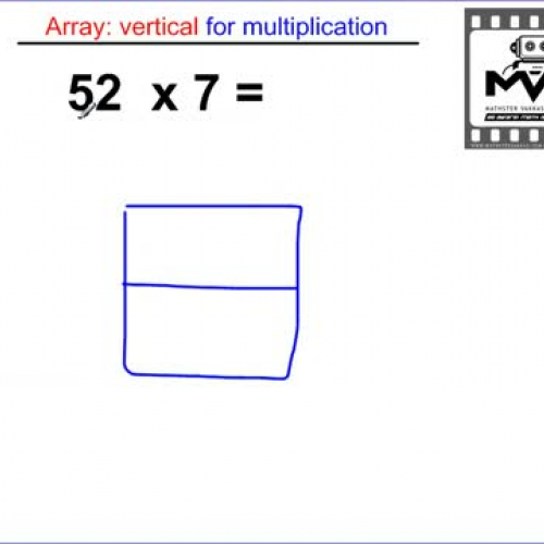 Multiplication Array 2 digit by 1 digit VERTI