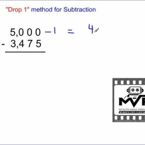 Subtraction Drop 1 Method (incredible way to