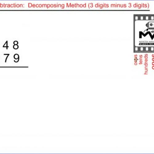Subtraction. Decomposing Method. 3 digits min