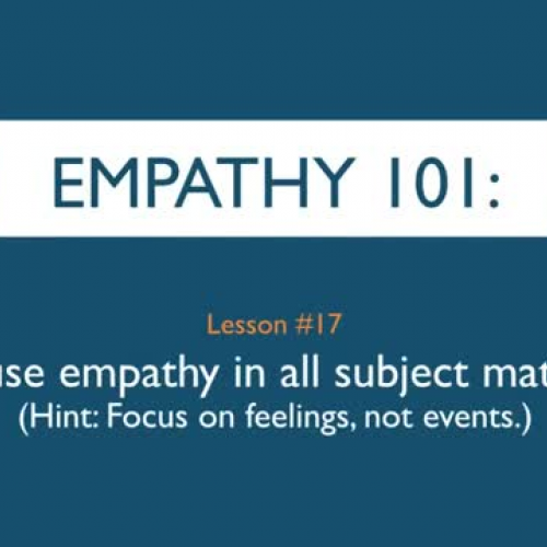 Empathy 101_ Infuse empathy in all subject ma
