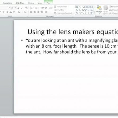 lens makers equation