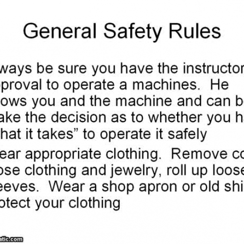 General Shop Rules PowerPoint Video