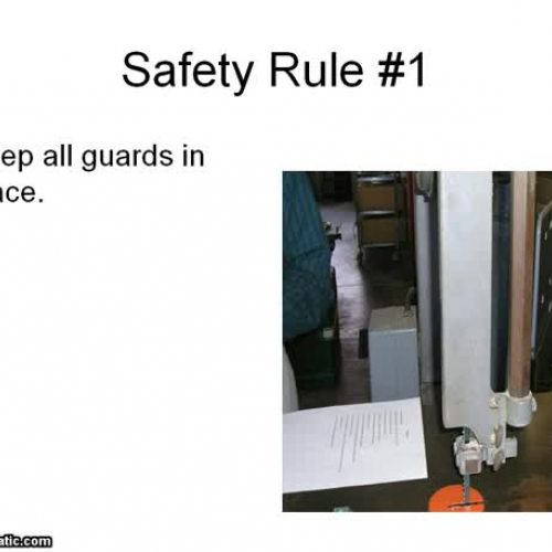 Band Saw Power Point Safety Video