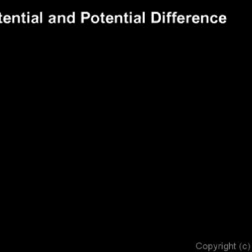 Electric Potential and Potential Difference b