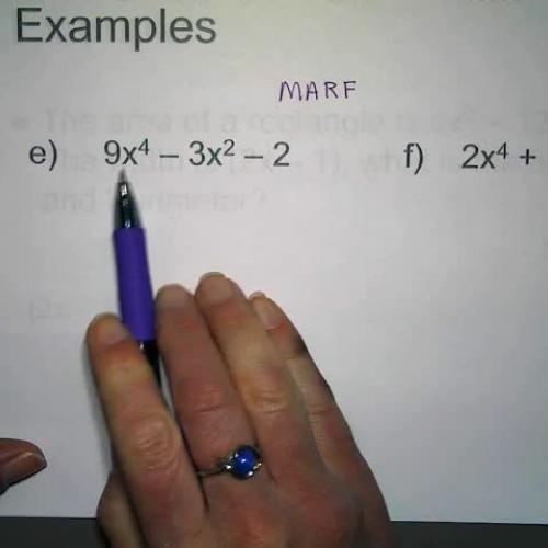 MARF examples E & F