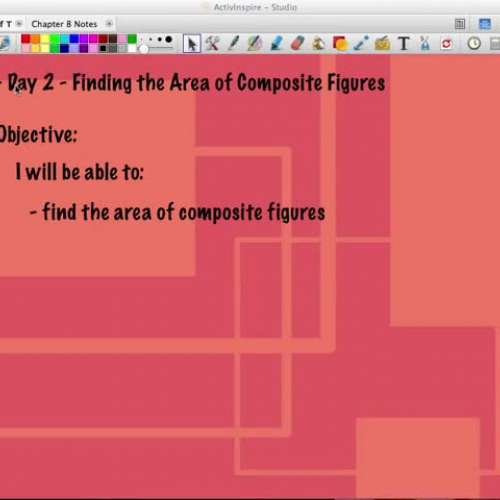 C2: 8.3 Day 2 - Area of composite Figures