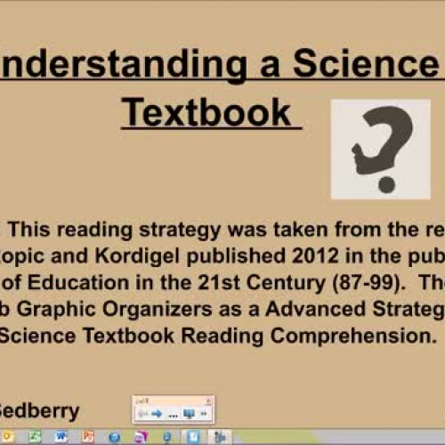Understanding a Science Textbook