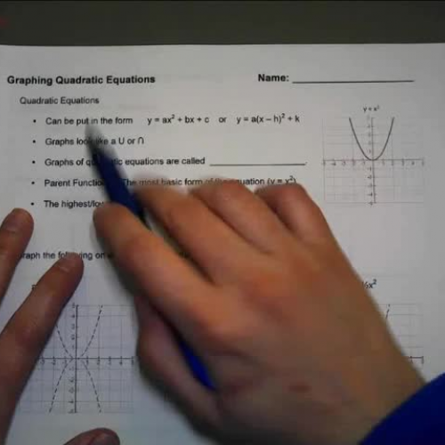 Quadratic Graphs 1