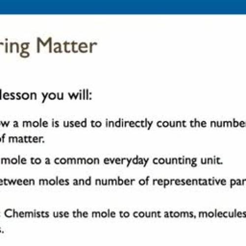 10.1 Measuring Matter