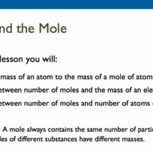 10.2 Mass and Mole