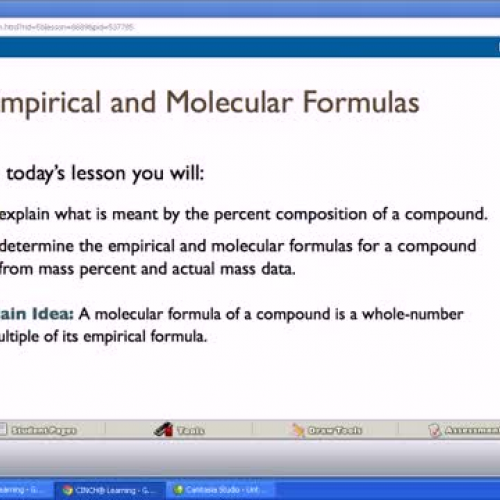 10.4 Empirical and Molecular Formula