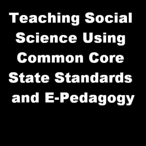 Using Common Core State Standards to teach So