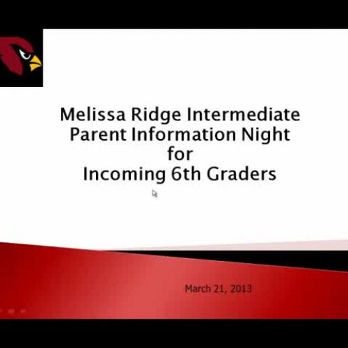 MRI 6th Grade Parent Information Night