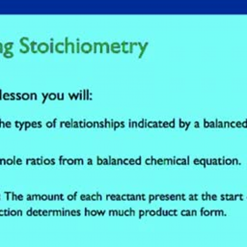 11.1 Defining Stoichiometry