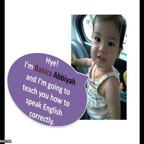 Speak English correctly