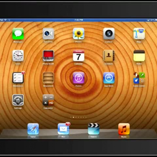 Using Gestures on the iPad