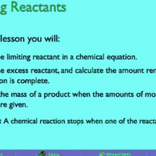 11.3 Limiting And Excess Reactants-1