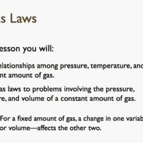 13.1 The Gas Laws