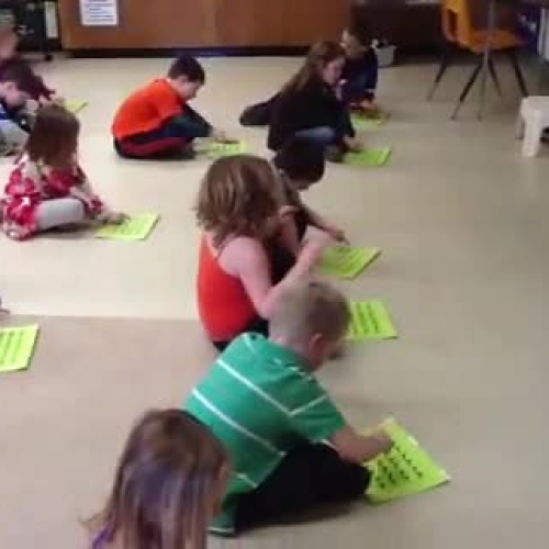 Kindergarten working with beat sheets