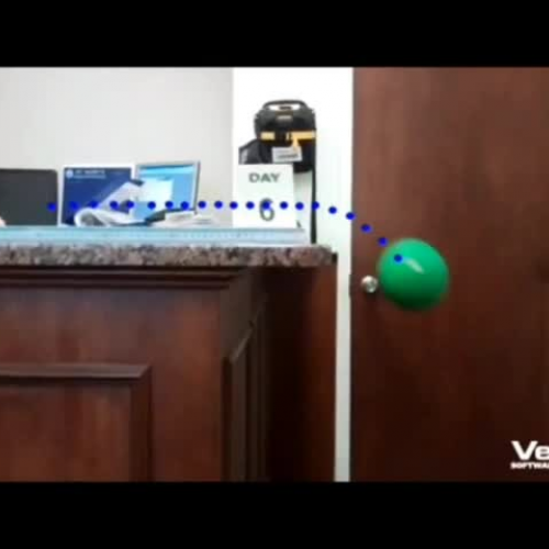 Video Analysis of an object projected horizon