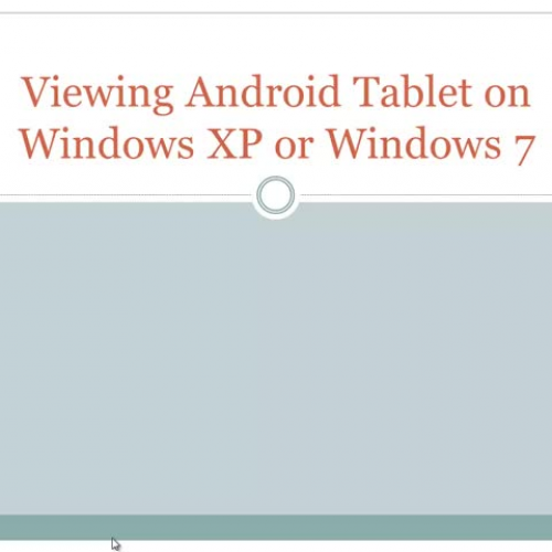 Using VMLite to View & Control Android Ta