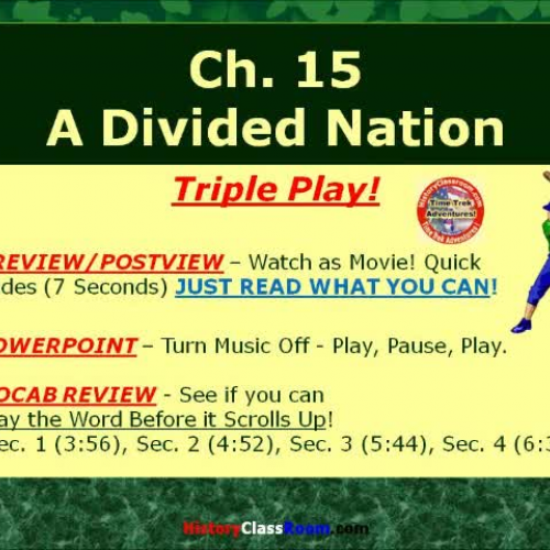 Ch. 15 A Divided Nation (Triple-Play USA)