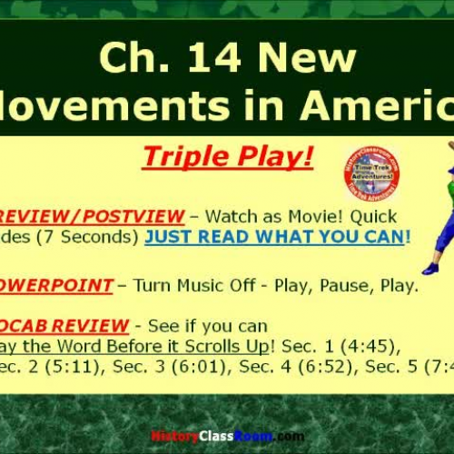 Ch. 14 New Movements in America (Triple-Play